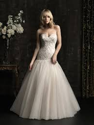 dropped waist wedding dress gown sweetheart dropped waist chagne tulle applique wedding dress