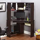 cheap corner desk with hutch amazon com corner computer desk workstation with hutch brown