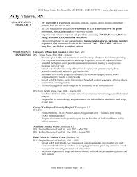 Resume Of A Registered Nurse Sample Resume For A Registered Nurse Free Resume Example And