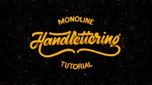 hand lettering tutorial for beginners monoline youtube