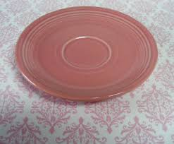 pink fiestaware wow 6 pink saucer ware homer laughlin check out