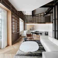Ceiling Bookshelves by Shanghai Apartment Lined With Floor To Ceiling Bookshelves