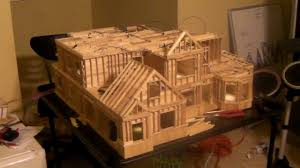 building popsicle stick house youtube house plans 54150