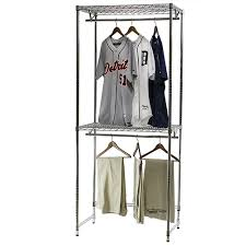 Closet Hanger Organizers - wire closet shelving double hang closet organizers 24