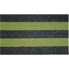 Patio Door Mat Clean Machine Patio Stripe Black Olive 18 In X 30 In Door Mat