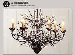 tree branch chandelier american restaurant blinds creative retro tree branch