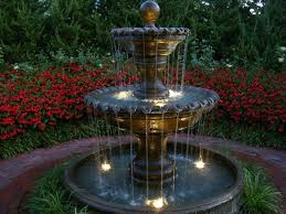 outdoor water features with lights outdoor water fountain lights best fountains images on garden