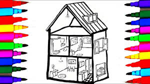 bathroom bedroom dinning room coloring pages kids coloring