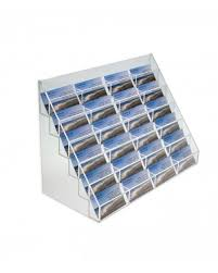 Pocket Business Card Holder Metal 24 Pocket Countertop Card Holders