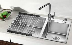 double drainer kitchen sink 800 450 220mm stainless steel undermount kitchen sinks sets double