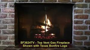 golden blount 36 inch top vent fireplace youtube