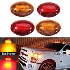 side marker light lens 4x led fender bed side marker lights lens amber red for ford f350
