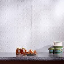 fasade 24 in x 18 in rings pvc decorative backsplash panel in