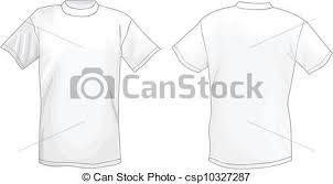 vector of white vector t shirt design template front u0026 back