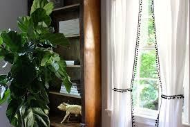 diy no sew pom pom curtains blue door living