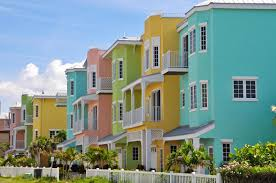 Colorful Beach Houses by Vacation Rentals Enterprise Smart Apartments