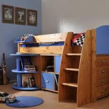Loft Bed With Closet Underneath Black Wooden Loft Bed With Closet Underneath With Closet And Rack