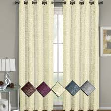 Grommet Top Valances 70 Off Fiorela Jacquard Drapes Floral Curtains Grommet Top Panels