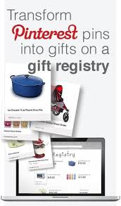 universal wedding registry transform pins into gifts on a gift registry http