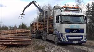volvo trucks ab volvo fh13 540 6x2 timber truck loading youtube