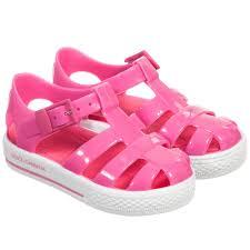 u0026 gabbana girls pink u0026 white jelly sandals childrensalon