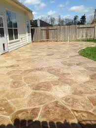 Textured Concrete Patio by Stamped Concrete Patios Driveways U0026 Walkways Columbus Ohio