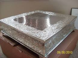 silver wedding cake stand silver wedding square cake stand wedding cake cake ideas by