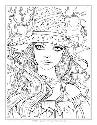 Creepy Halloween Coloring Pages by Free Witch Coloring Page Halloween Coloring Pages By Molly
