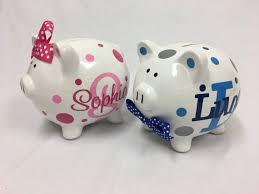 monogram piggy bank piggy bank personalized ceramic piggy bank monogram name