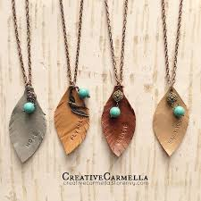 leather necklace pendants images All hand cut and hand stamped these leather leaf pendant jpg