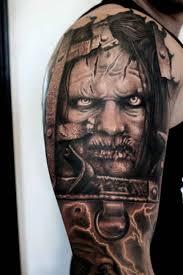 tattoo ideas zombie horror zombie tattoo upper arm ideas tattoo designs