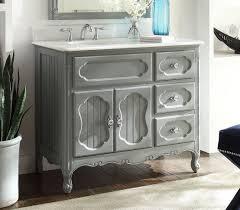 adelina 42 inch antique cottage bathroom vanity grey finish white
