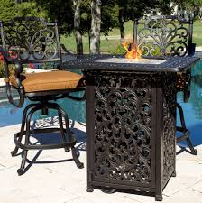 Bar Height Fire Table Bar Height Patio Table With Fire Pit Home Design Ideas