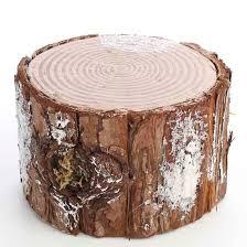 decorative artificial winter tree stump table decor