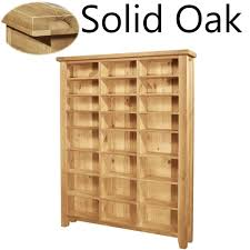 Dvd Storage Cabinet Lyon Solid Oak Furniture Large Cd Dvd Media Storage Cabinet Rack
