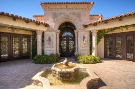 Home Courtyards Mediterranean Exterior Of Home With Glass Door By Wcoon46 Zillow