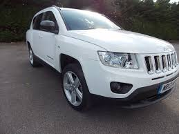 compass jeep white used jeep compass suv 2 2 crd limited 4wd 5dr in ashford surrey
