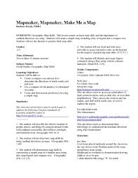 me a map mapmaker mapmaker me a map 2nd 3rd grade lesson plan