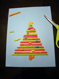 drinking straw christmas tree craft speech therapy pinterest