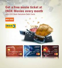 inox offer buy 1 get 1 free movie ticket icici bank