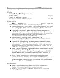 Admin Resume Examples by Free Federal Resume Sample From Resume Prime