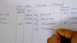 double column cash book with solution cash book tutorial by