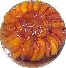 vanilla pound cake with peach glaze