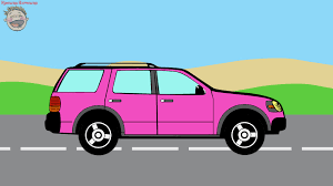 cars coloring book pink suv cartoon kids