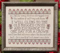 Old Rugged My Big Toe Designs The Old Rugged Cross Cross Stitch Pattern