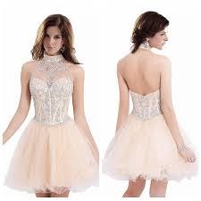 light pink graduation dresses open back halter neck light pink homecoming dresses short bling