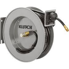 water hose reel wall mount klutch auto rewind air hose reel u2014 with 3 8in x 50ft pvc hose