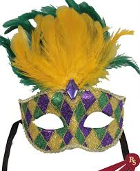 green mardi gras mask mardi gras carnival mask feathers party masks