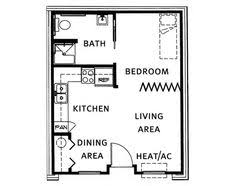 Detached Garage Apartment Floor Plans Garage Apartment Plan For A Narrow Strip Of Property House Plans