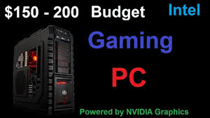 Gaming Desk Tops by Great Gaming Pc Build For 150 200 Dollars Youtube